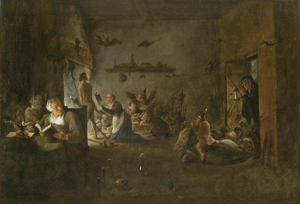 Preparación para el aquejare, de Teniers.