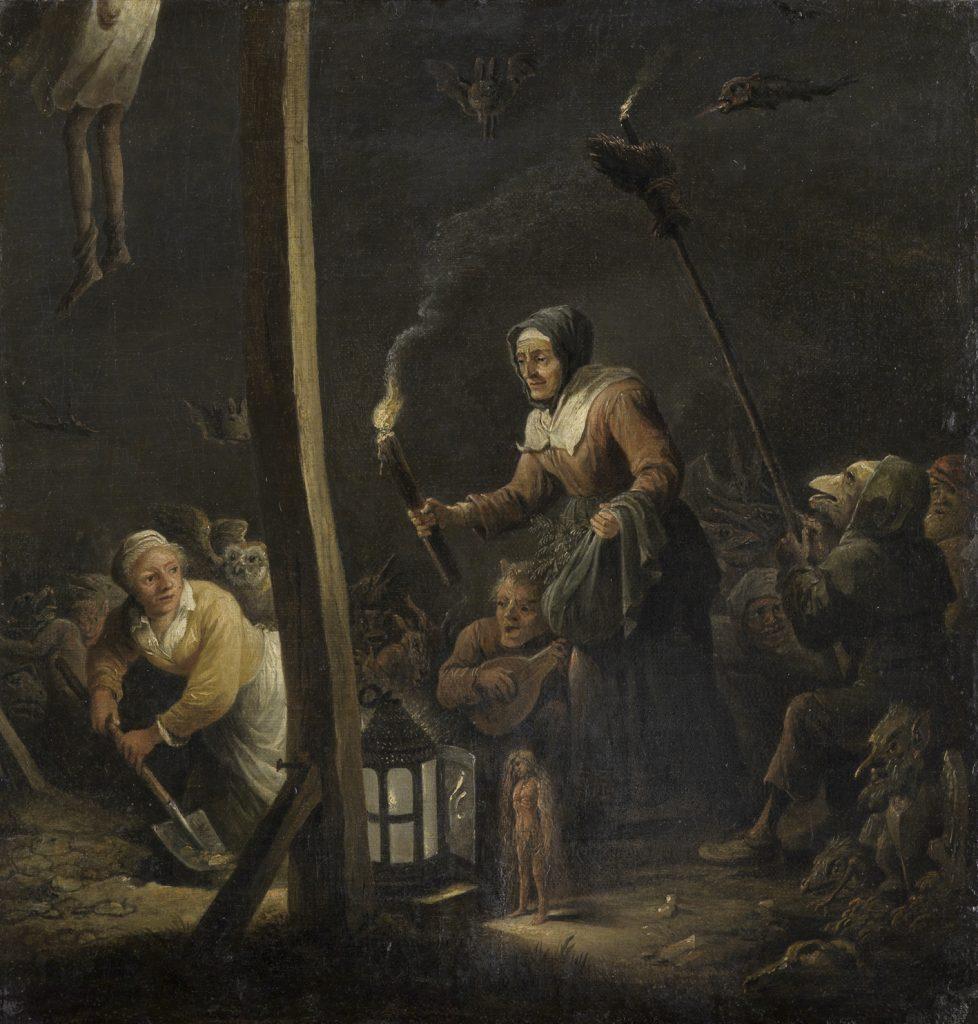 Brujería bajo la horca, de David Teniers II, Karlsruhe, Staatliche Kunsthalle.