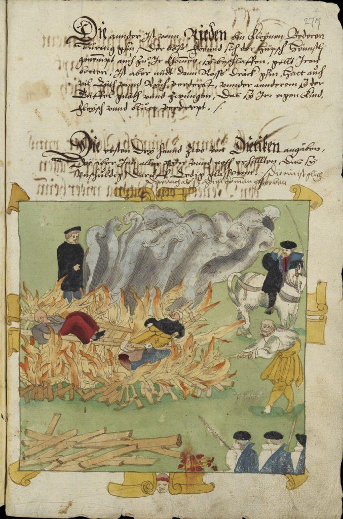 Ejecución en Baden, 1585, Wickiana, Zentralbibliotek Zürich.