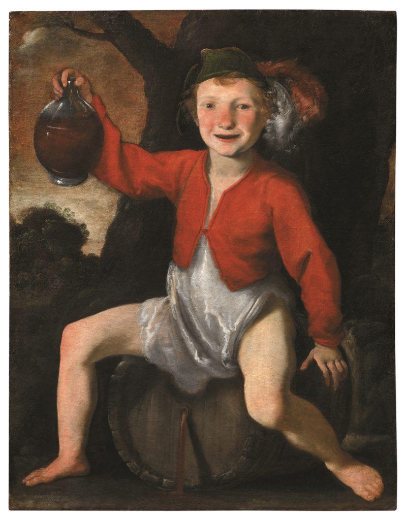 Bacco fanciullo, Giovanni Mannozzi detto Giovanni da San Giovanni, h. 1630-40, óleo sobre lienzo.