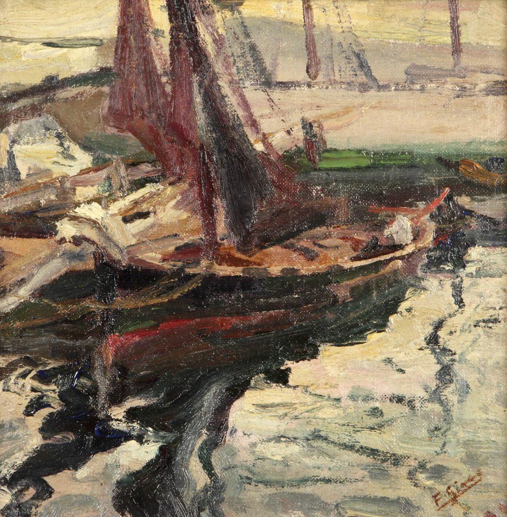 Marina, de Frances Gimeno Arasa, óleo sobre lienzo, hacia 1915-18, 285 x 28-5 cm.