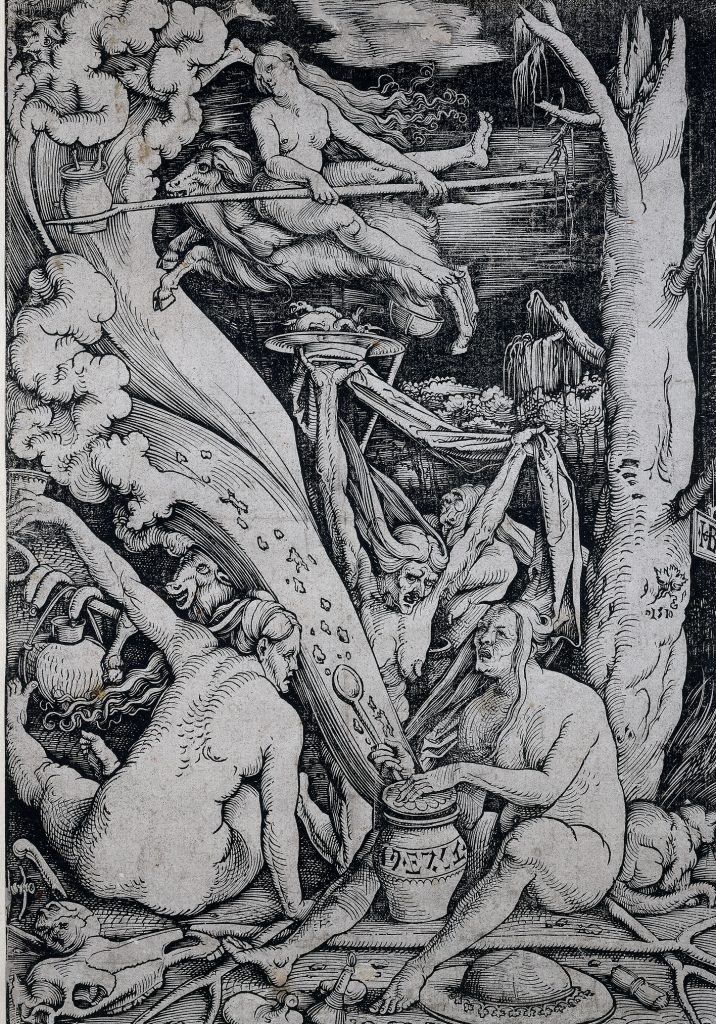 Hechicera maligna, de Hans Baldung Grien, 1510, Ámsterdam, Rijksmuseum.