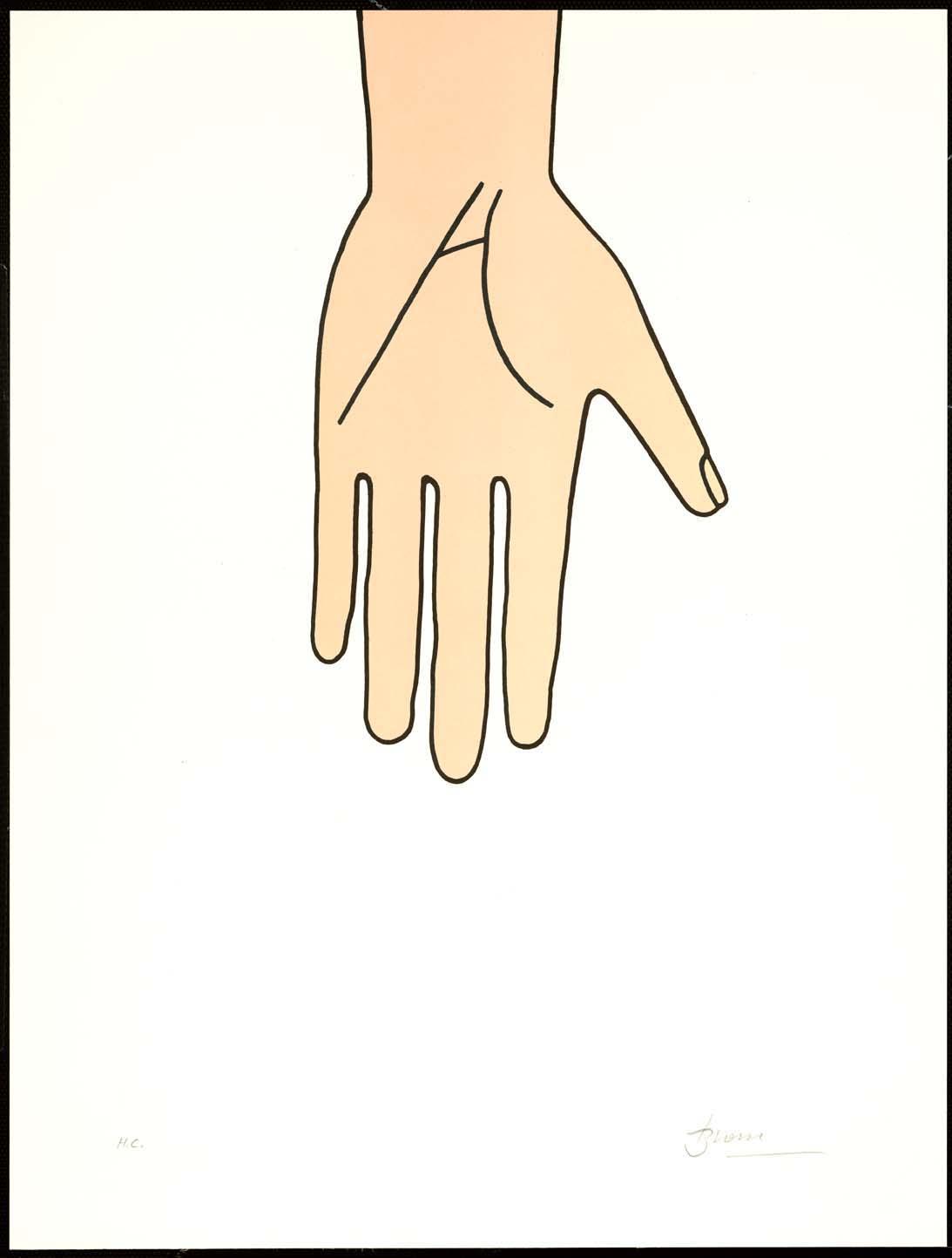 """Poema visual"", Joan Brossa (1989), litografía, medidas: 50 x 38 cm."