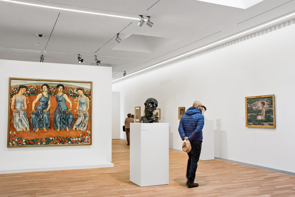 Una de las salas del LAC. Arte y Cultura, Lugano. Ausstellung.