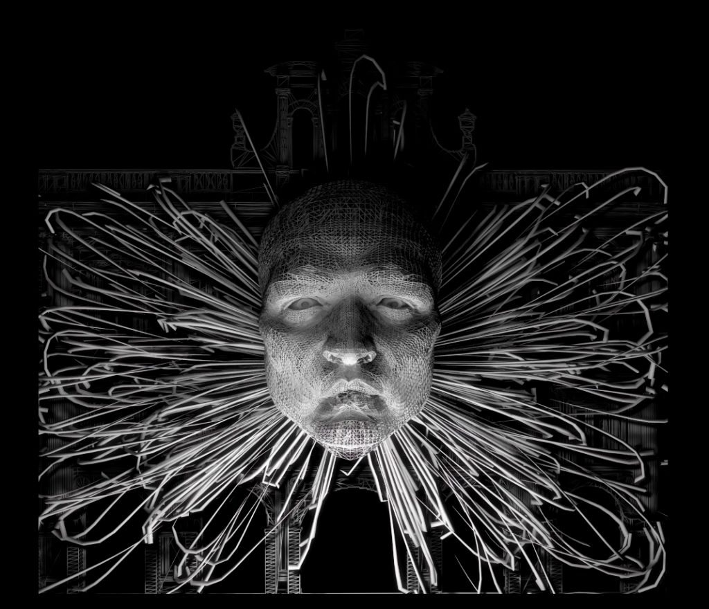 Video mapping Black & White Dreams.