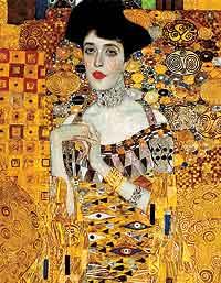 Retrato de Adela Bloch-Bauer I o La dama dorada, por Gustav Klimt, 1907, óleo y oro sobre tela, 138 x 18 cm, Nueva York, Neue Galerie.
