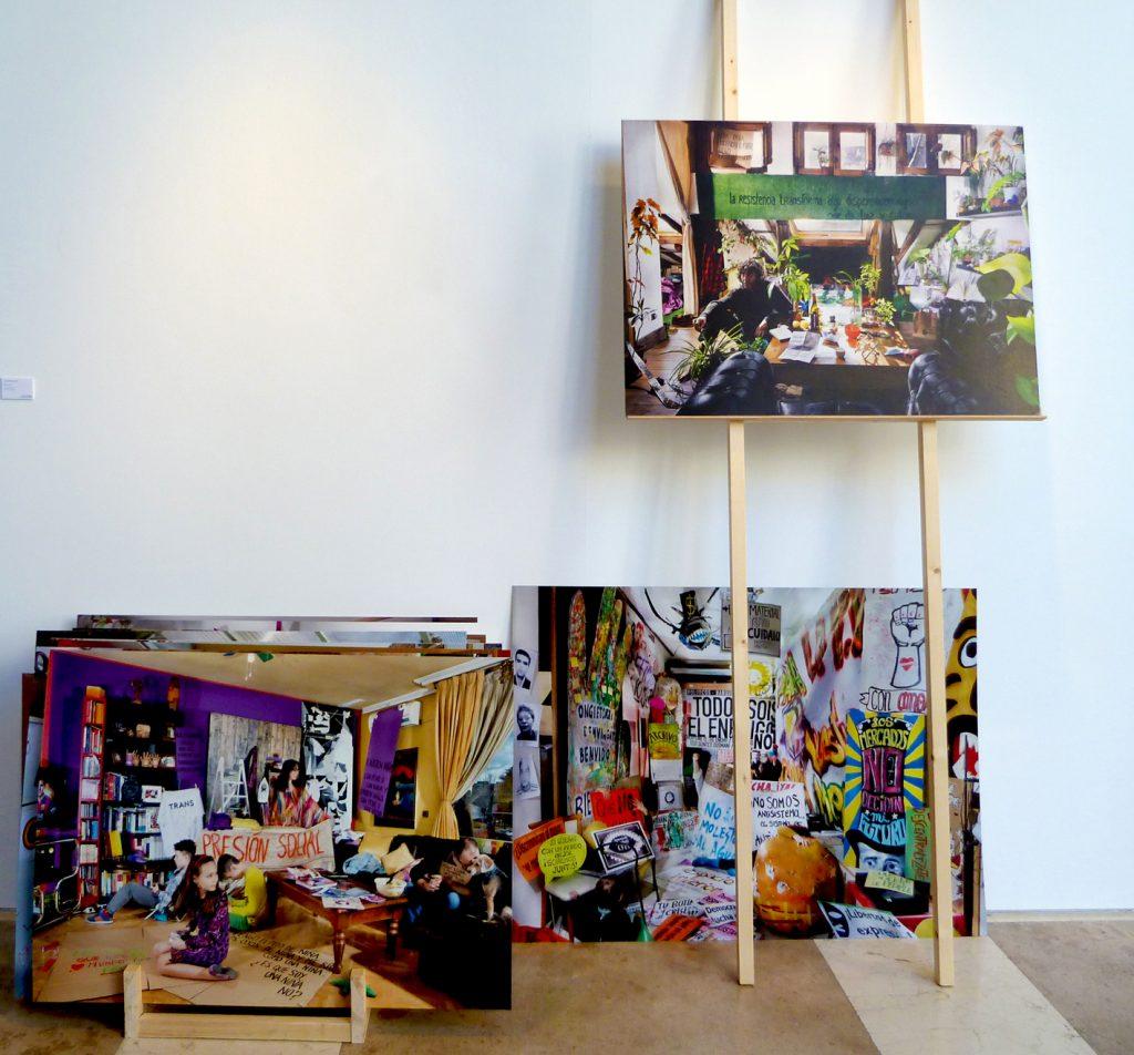 Aurore Valade: serie Digo yo, fotografías sobre cartón, 2016.