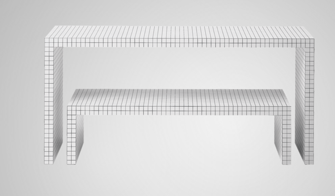 Quaderna, diseño de Superstudio, edita Zanotta.