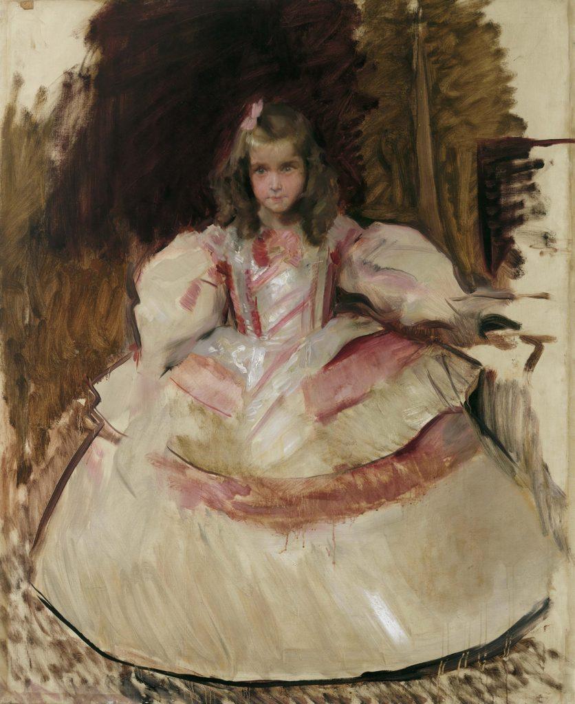 La niña María Figueroa vestida de menina, de Joaquín Sorolla, óleo sobre lienzo, 151,5 x 121 cm, Madrid, Museo Nacional del Prado.
