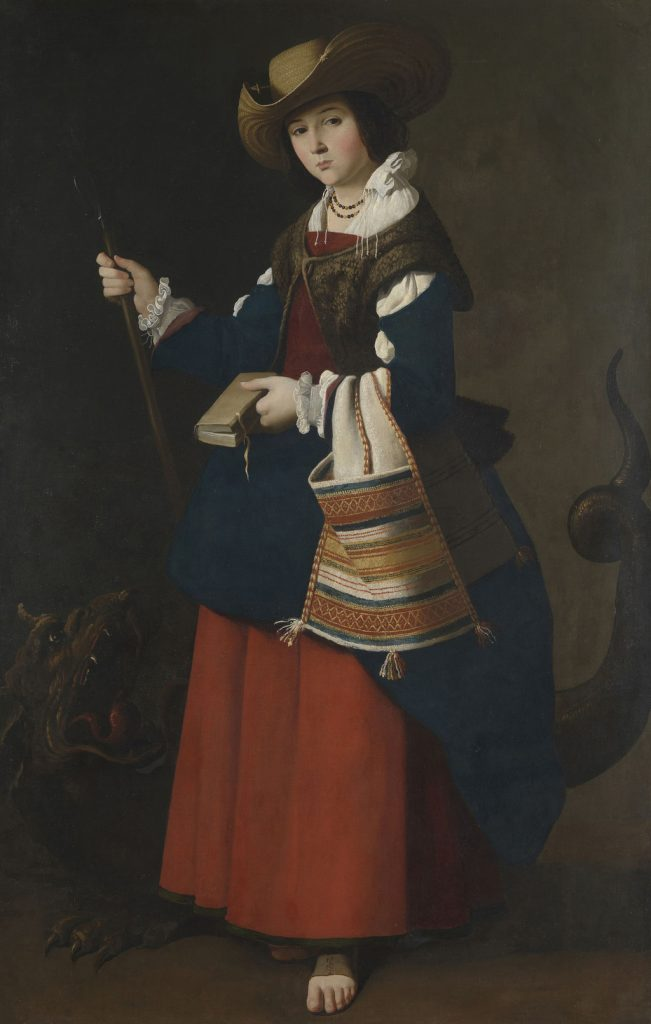 Santa Margarita de Antioquía, de Zurbarán, 1630-34, Londres, National Gallery.