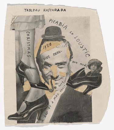 Rastadada Painting, por Francis Picabia, 1920, collage y tinta sobre papel, 19 x 17,1 cm, The Museum of Modern Art, New York. Gift of Abby Aldrich Rockefeller (by exchange), 2014. © 2016 Artists Rights Society (ARS), New York/ADAGP, Paris.