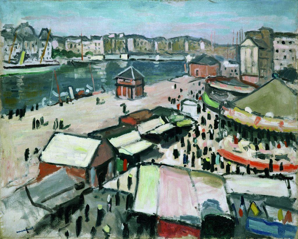 La Fête foraine au Havre, de Albert Marquet. 1906, óleo sobre tabla.