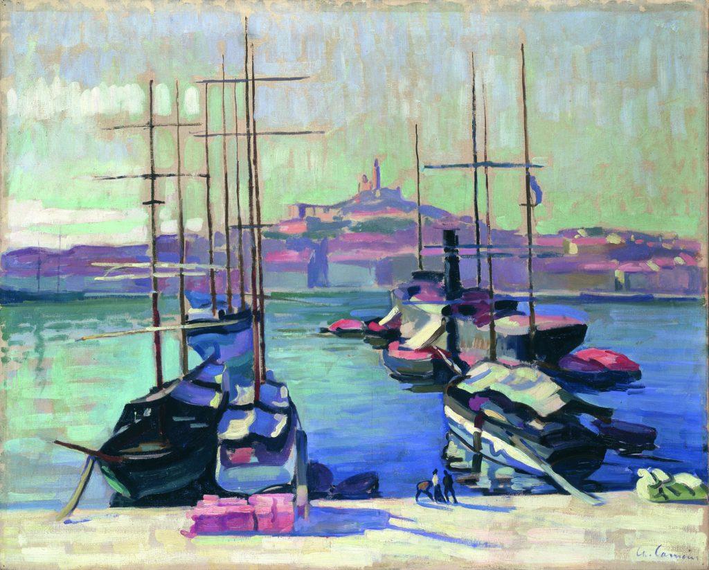 Port de Marseille, Notre-Dame-de-la-Garde, de Charles Camoin, 1904, colección particular © Charles Camoin.