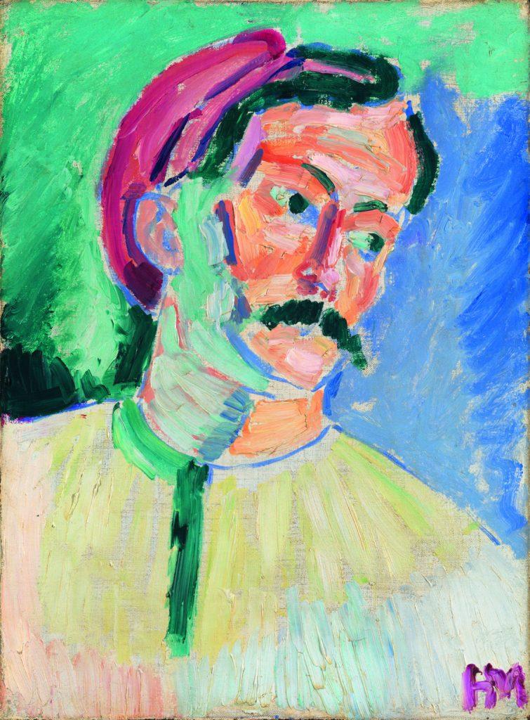 André Derain, de Henri Matisse, 1905, Londres, Tate, adquirido con la colaboración del Knapping Fund, del Art Fund y del Contemporary Art Society, así como de patrocinadores privados, en 1954 © Succession H. Matisse.