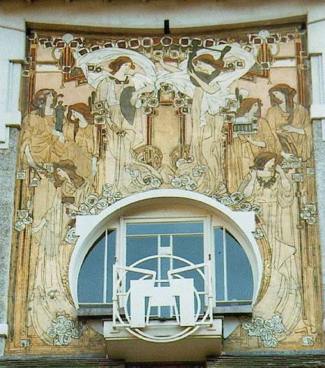 Fachada de la Casa Cauchie, proyecto de Paul Cauchie.
