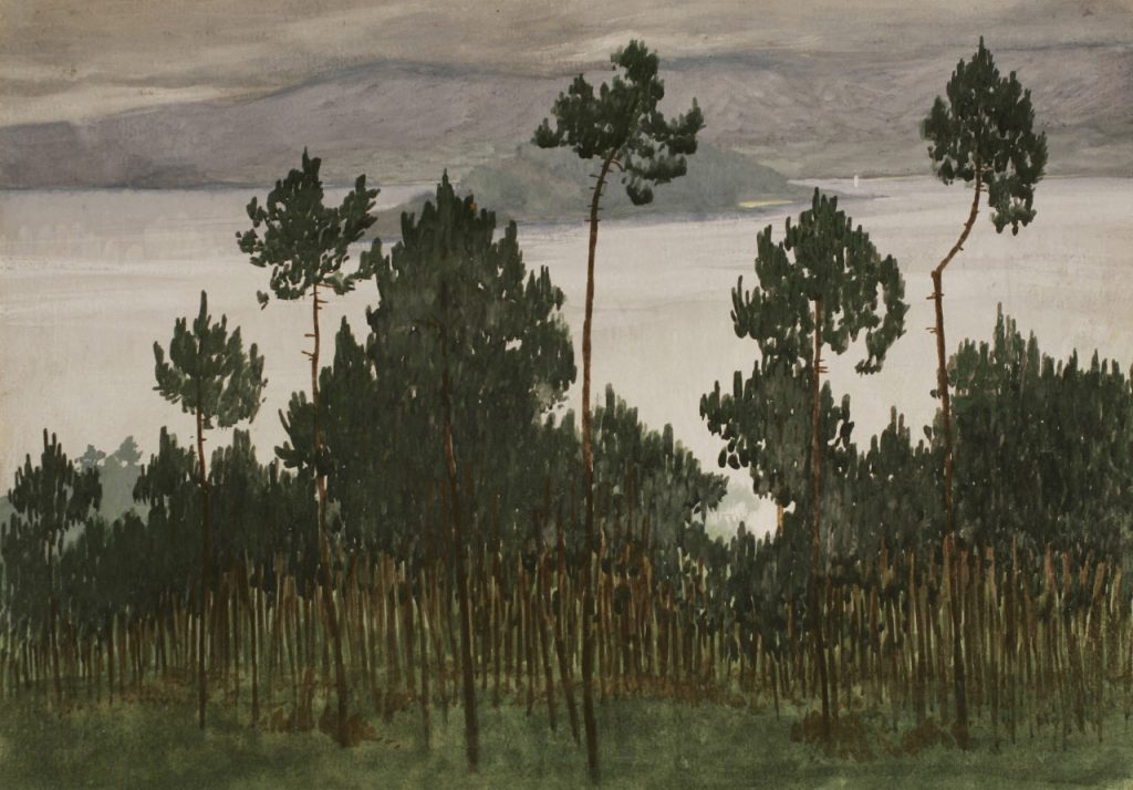 La ría de Pontevedra con la isla de Tambo, Pontevedra. Todas las obras pertenecen a Castelao.