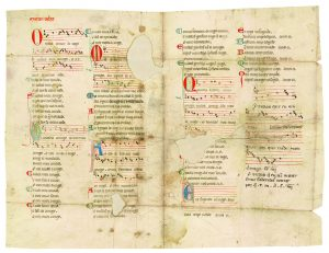 MS M.979 fol. 2r, Codax, Martâin, fl. ca. 1230. [Siete canciones de amor]. [between 1275 and 1299]