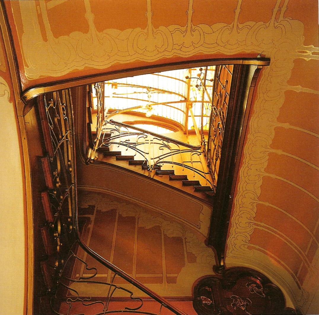 Escalera de la Casa Museo de Victor Horta en Bruselas.