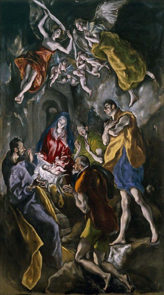 Adoración de los pastores, del Greco, Madrid, Museo del Prado.