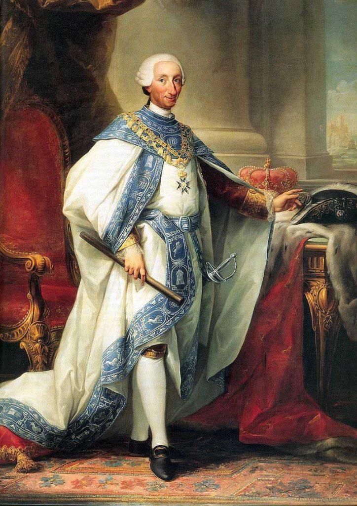 Carlos III con el hábito de su Orden, Palacio Real de Madrid.
