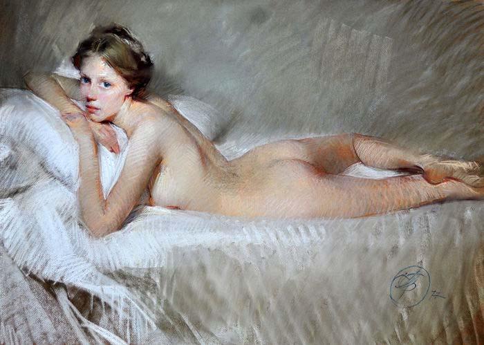 Desnudo femenino, de Joaquín Torrens Lladó, 1977.