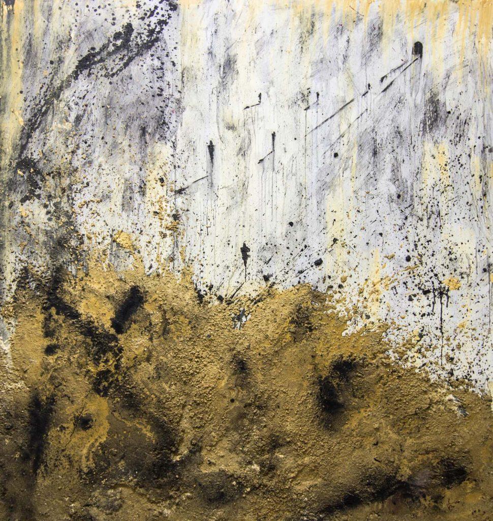 Utopía, 195 x 180 cm, técnica mixta sobre lienzo.