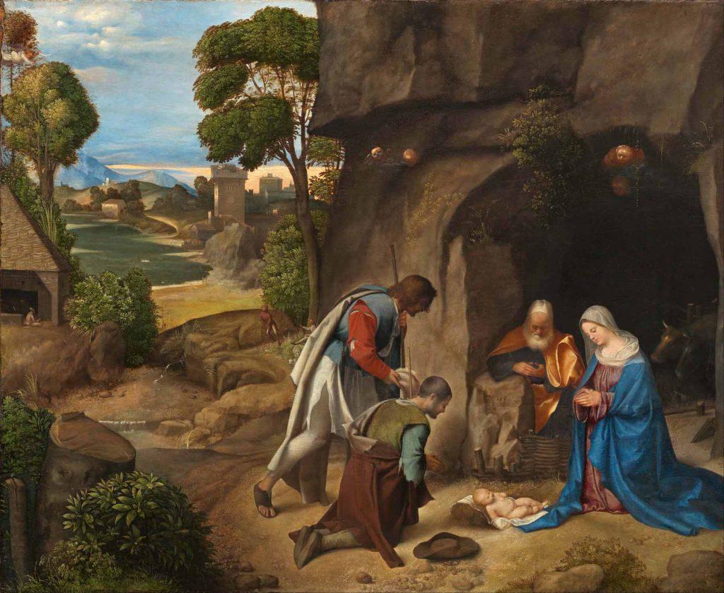 Adoración de los pastores, de Giorgione.
