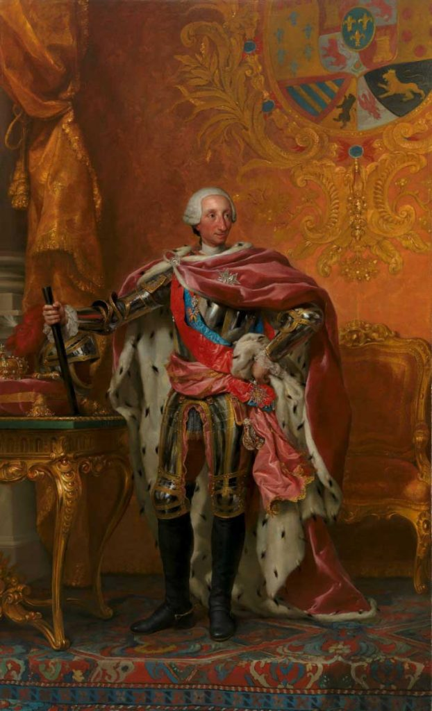 Retrato de Carlos III, por Mengs.