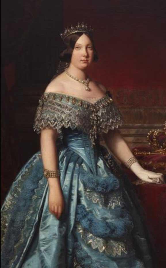 Retrato de Isabel II.