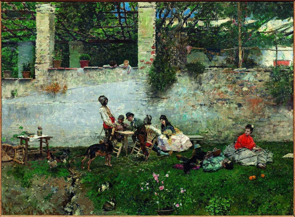 """""""Almuerzo en la Alhambra"""", de Mariano Fortuny, 1872, óleo sobre lienzo, colección particular, Barcelona."""