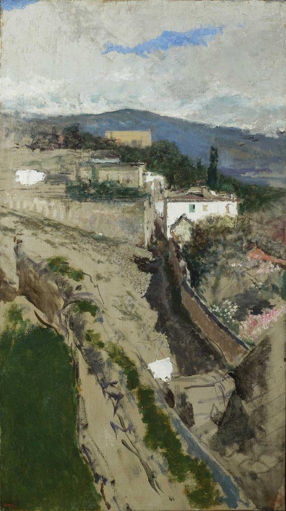 """""""Paisaje de Granada"""", h. 1871, óleo sobre lienzo © Museu Nacional d'Art de Catalunya, Barcelona (2016) Photo: Jordi Calveras."""