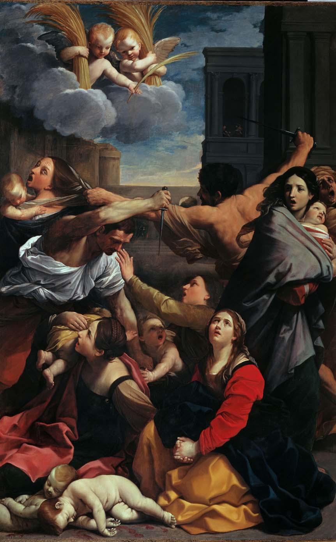 La Matanza de los innocentes, de Guido Reni, 1611, Bolonia, Pinacoteca Nacional.