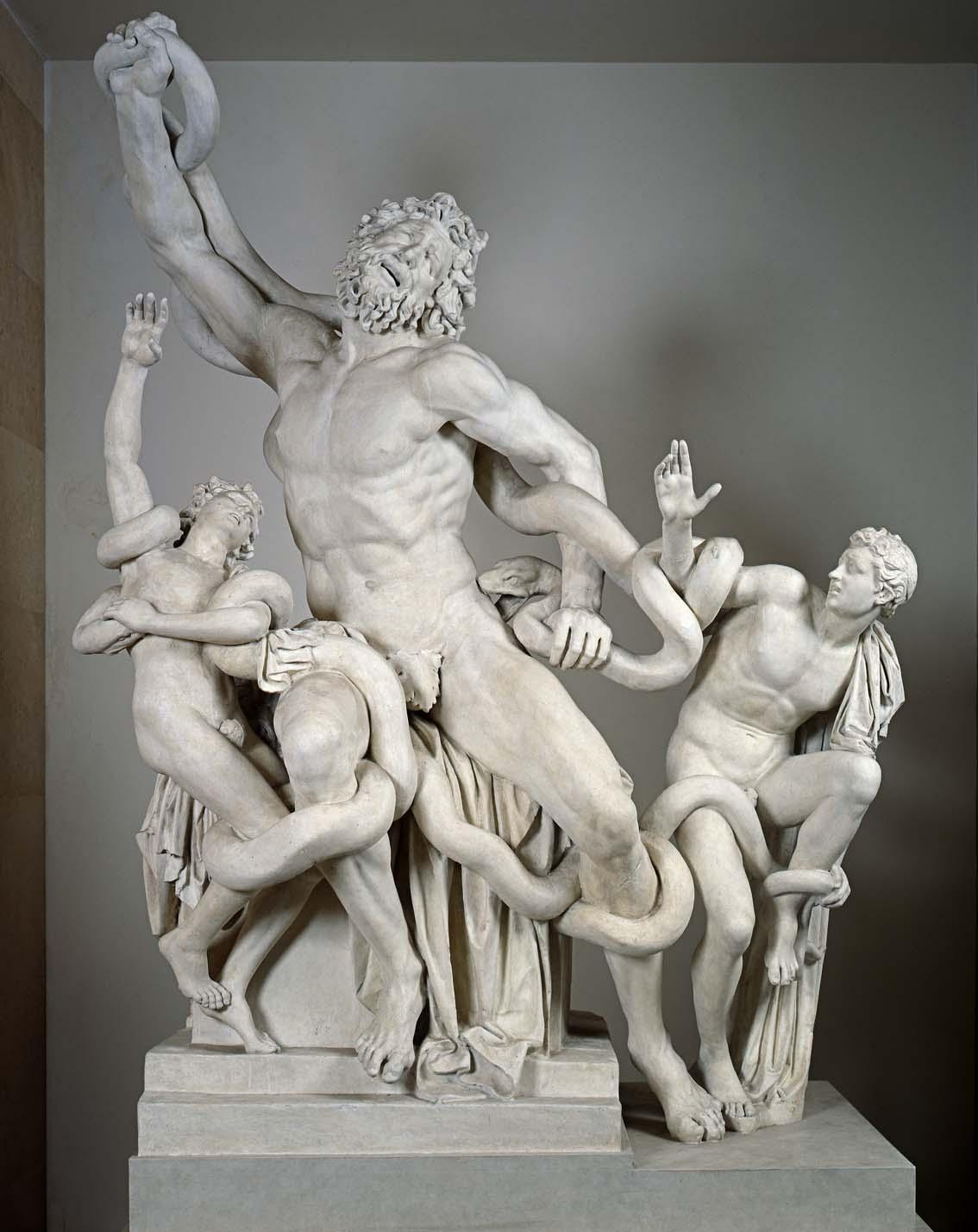 Copia del gruppo del Laocoonte, vaciado de yeso, siglo XIX?, 205 x 158 x 105 cm, Roma, Museo del Vaticano.