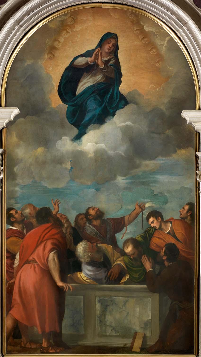 Asunción de la Virgen, de Tiziano, 1530-32,óleo sobre lienzo, 394 x 222 cm, Verona, Catedral de Santa Maria Assunta.