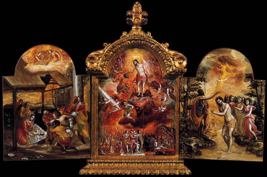 Tríptico de Módena, del Greco, h. 1567, óleo sobre tabla, Módena, Galería Estense.