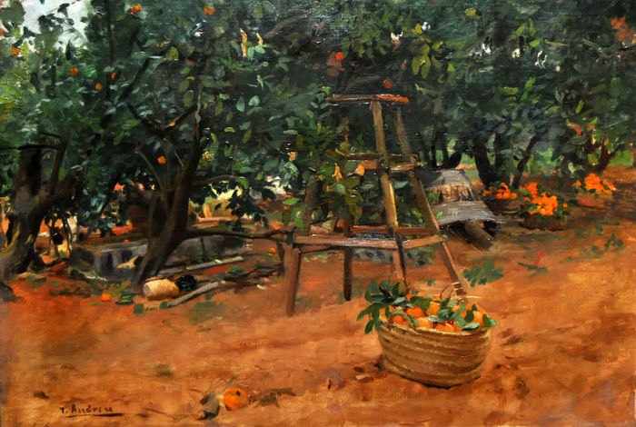 """Naranjos"", Teodoro Andreu."