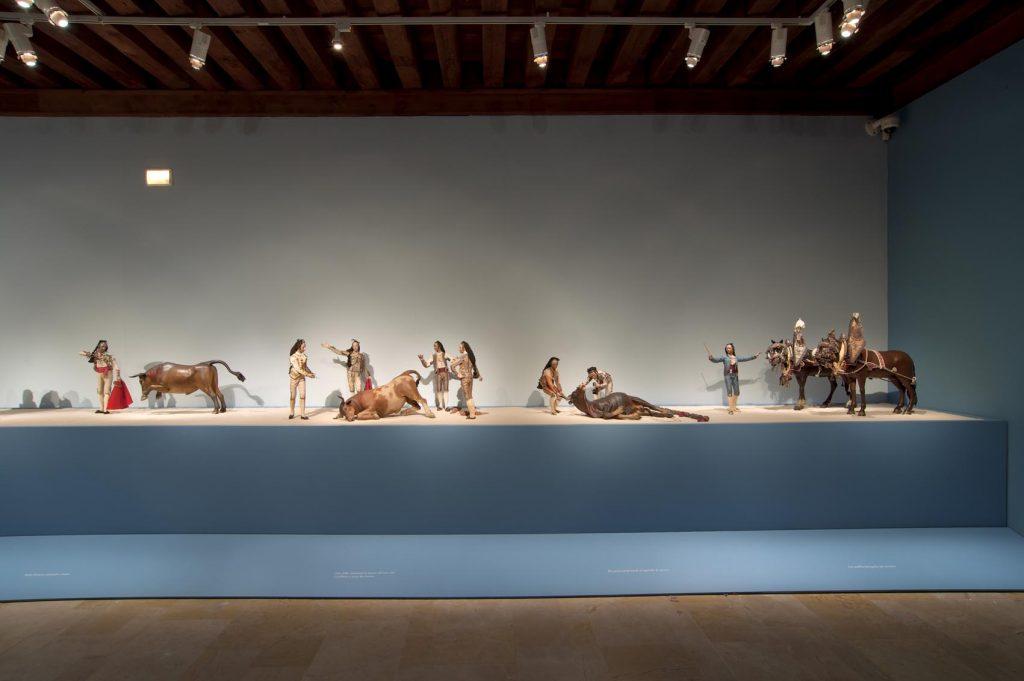 Parte del conjunto escultórico en una sala del museo vallisoletano.