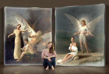 """Las """"ángelas"""" de Denise de la Rue se enfrentan a las de los frescos de Goya"""