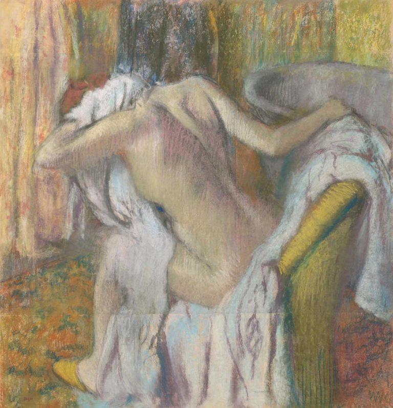 Degas y su fascinación por el mundo íntimo de las mujeres Artes & contextos After the Bath Woman drying herself