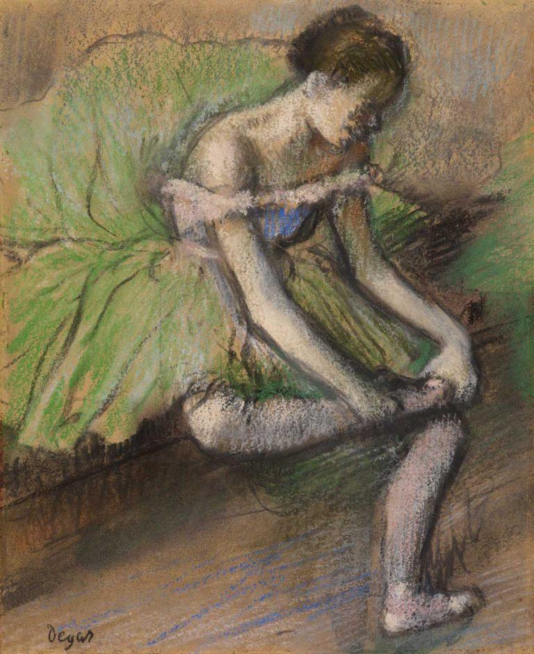 Degas y su fascinación por el mundo íntimo de las mujeres Artes & contextos BAILARINA MASAJEANDO PIE