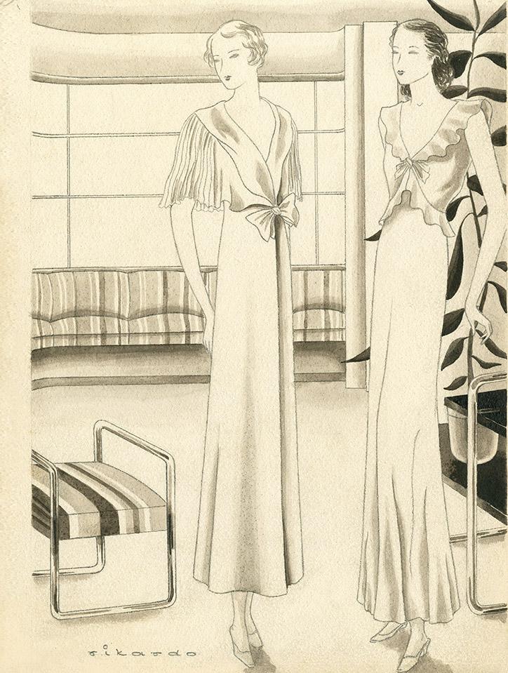 Rikardo. Influencia de la moda en la ropa interior. ©Museo ABC