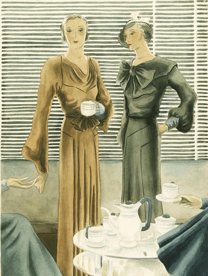 Rikardo.Siluetas elegantes (1932) © Museo ABC