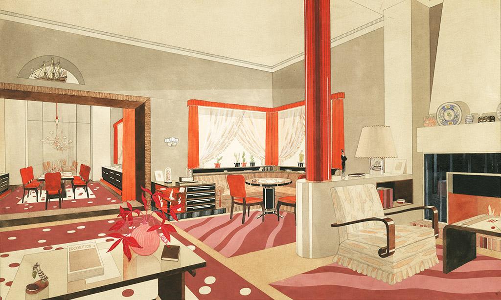 Romley. La Gran Sala Comunal. Circa 1935 © Museo ABC