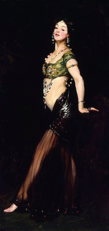 Salomé, por Robert Henri (1909), lienzo al óleo
