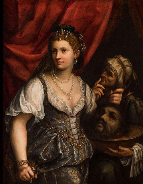 Judit con la cabeza de Holofernes, por Fede Galizia (1596), lienzo al óleo