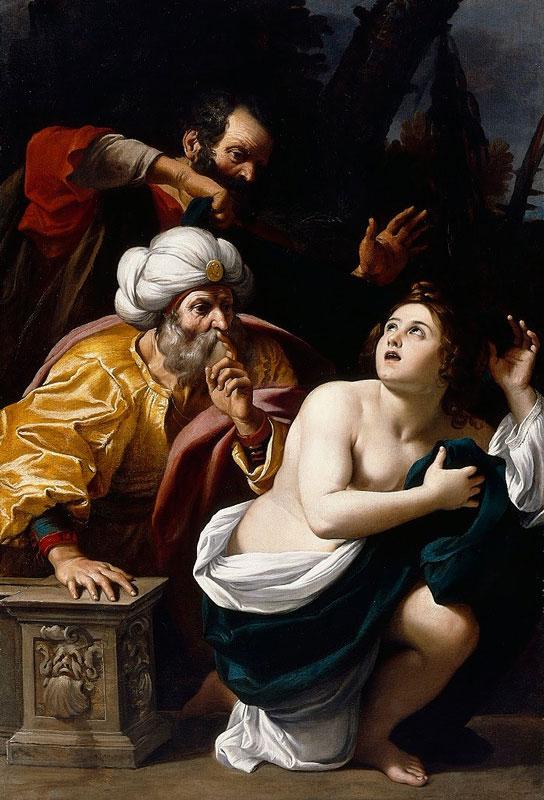 Susana y los viejos por Sisto Badalocchio (apx. 1602-10), lienzo al óleo
