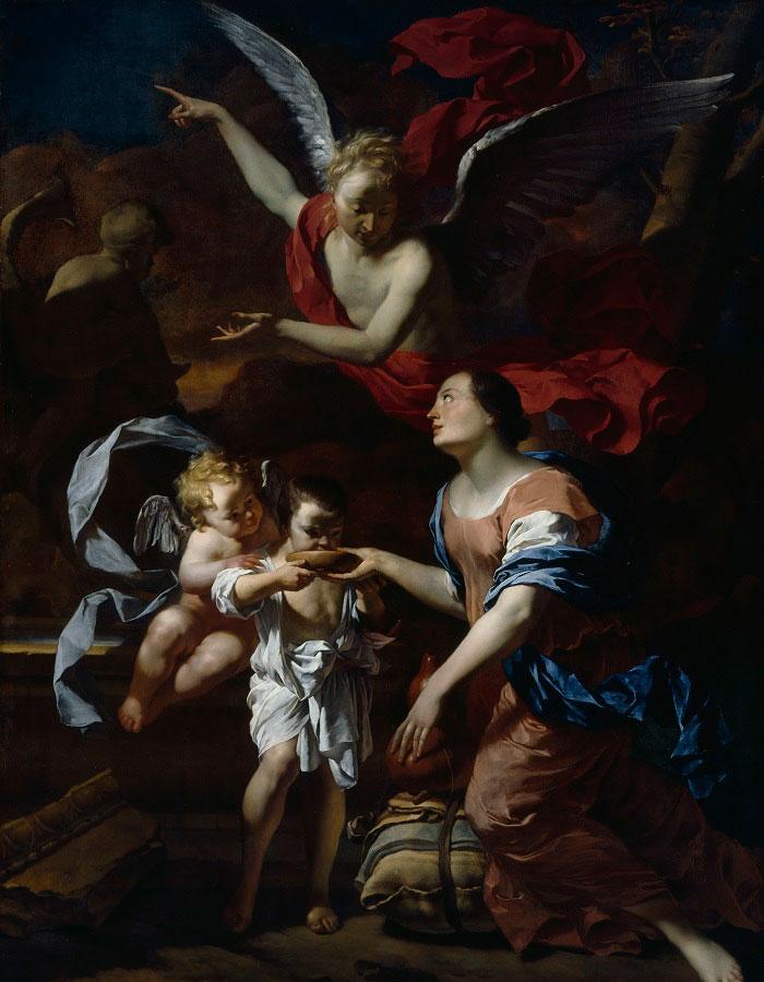 Agar e Ismael en el desierto, por Karel Dujardin (apx. 1662).