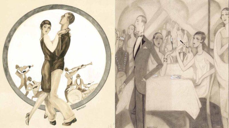 Art decó ilustrado a ritmo de jazz en la Colección ABC