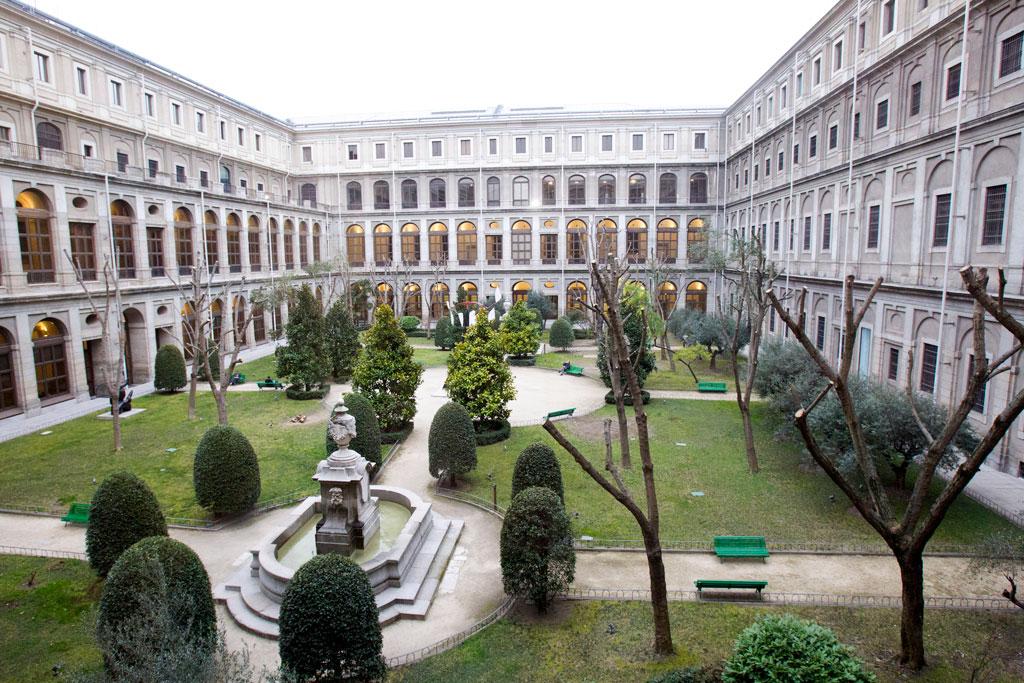 Vista panorámica del patio del edificio Nouvel del Museo Nacional Centro de Arte Reina Sofía situado en Madrid. EFE/Javier Liaño