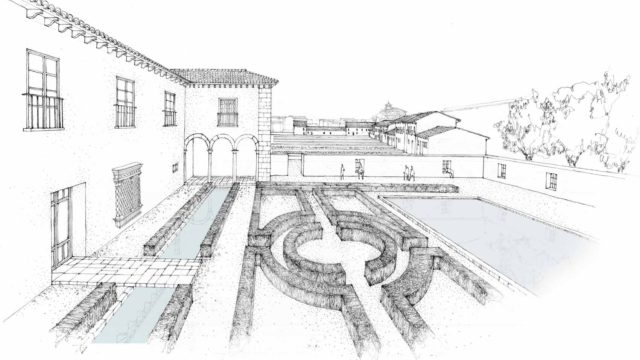 Cuatro estudios de arquitectura para Baza, Borox, Jaca y Trujillo